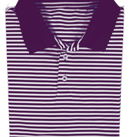 Properly Tied Lil Ducklings Gameday Polo Purple 3T