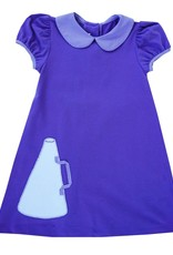 LullabySet Girls Purple Knit Megaphone Dress