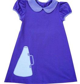 LullabySet Girls Purple Knit Megaphone Dress