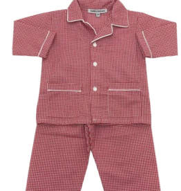 Sweet Dreams Red Gingham PJ Boy