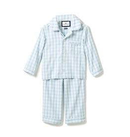 Petite Plume Light Blue Gingham Pajama Set