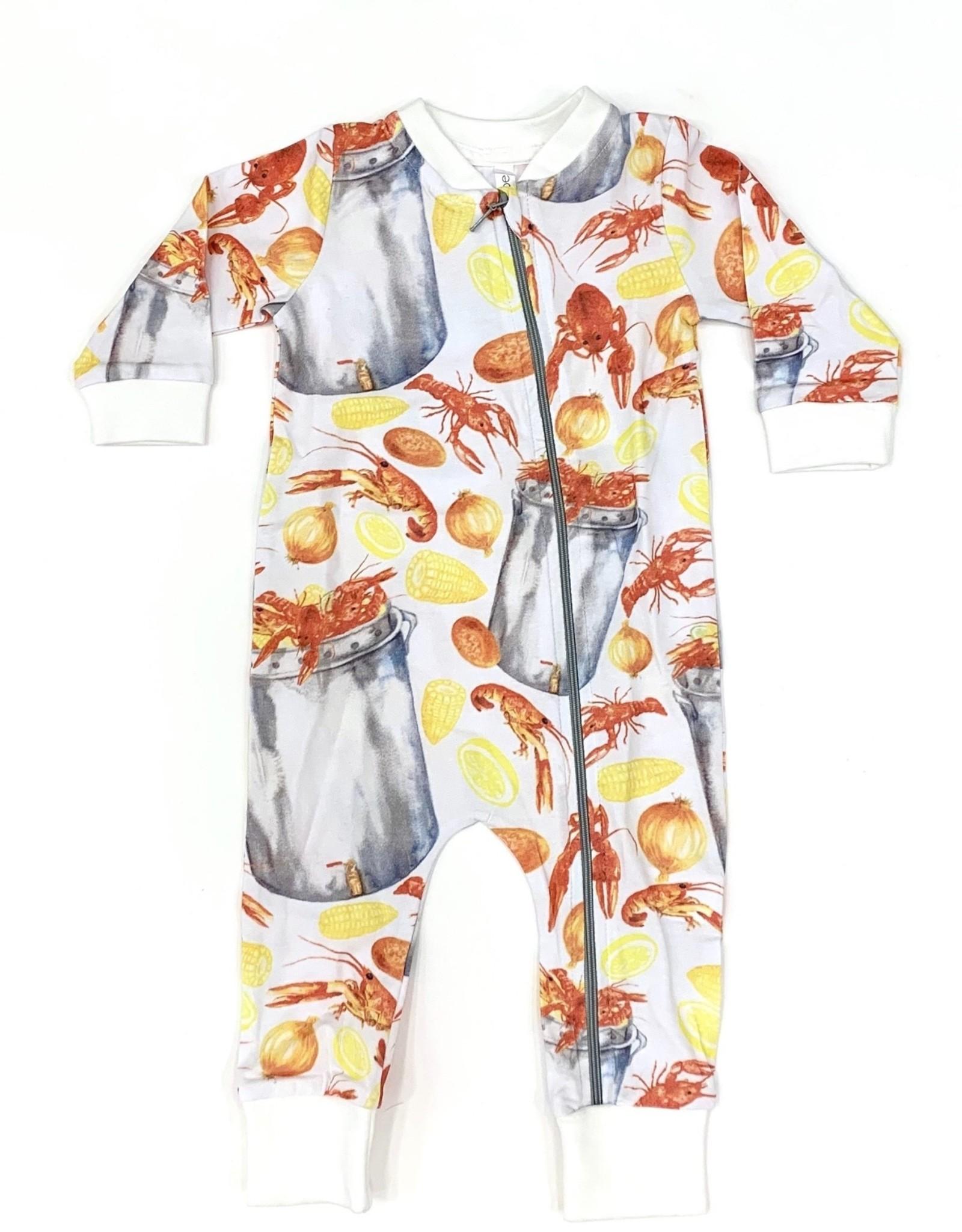 Velvet Fawn Bayou Baby Zipper Pajamas