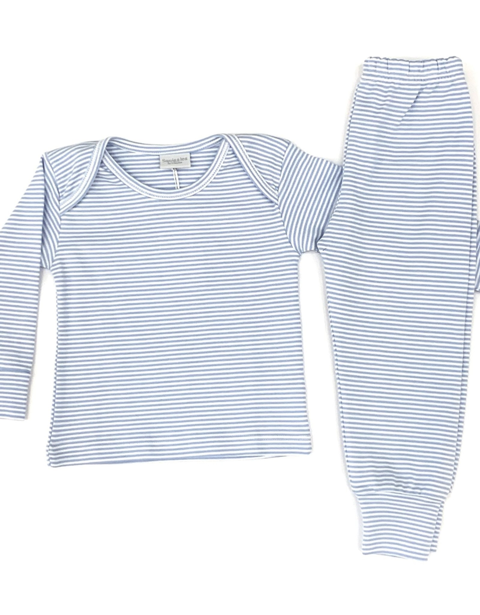 Squiggles Blue and White Stripe Set