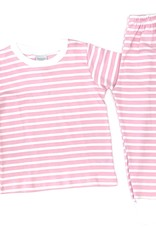Squiggles Pink and White Stripe Set