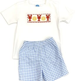 Krewe Smocked Crawfish Boys Shortset