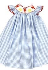 Krewe Smocked Crawfish Girls Dress