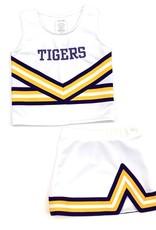 Lets Cheer LSU cheer 2 piece white