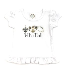 Fleur de leigh Who Dat Girls T-Shirt Brunette