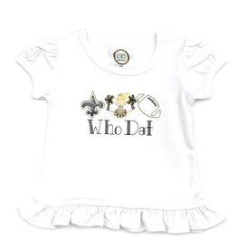 Fleur de leigh Who Dat Girls T-Shirt Blonde