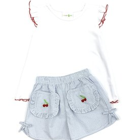 Zuccini Cherry Embroidered Short Set