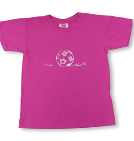 Honey Bee Tees Soccer Ball Tee Pink