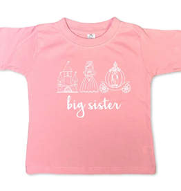 Honey Bee Tees Big Sis Princess Trio 12-18m