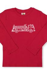 Honey Bee Tees Red Fire Truck Long Sleeve Tee