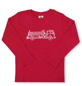 Honey Bee Tees Red Fire Truck Long Sleeve Tee