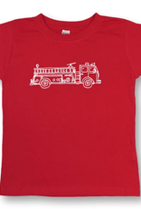 Honey Bee Tees Fire Truck Short Sleeve Tee Red