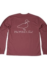 Properly Tied Lil Ducklings Faded Logo Long Sleeve Cayenne