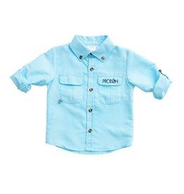 Prodoh Light Blue Vented Back Seasonal Fishing Shirt