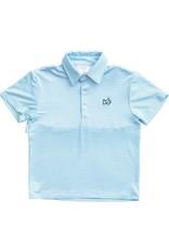 Prodoh Aquarius Blue Striped Vented Back Polo