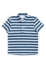 Prodoh Navy And White Striped Performance Polo