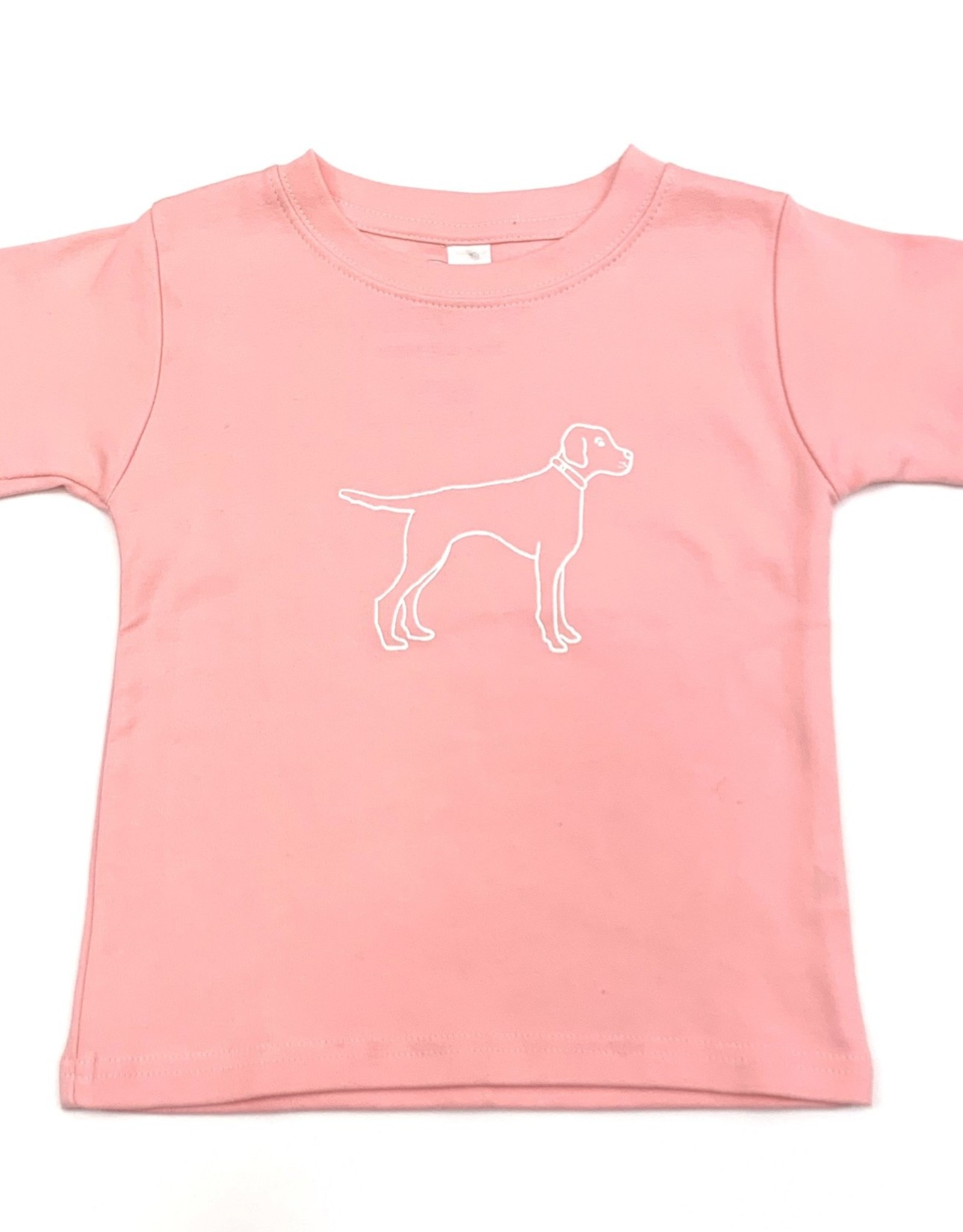 Honey Bee Tees Bird Dog Tee Pink