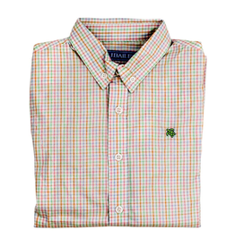 The Bailey Boys Easter Basket Windowpane Button Down Shirt
