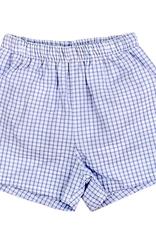 The Bailey Boys LighT Blue Windowpane, Elastic Waist Short