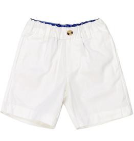 The Bailey Boys White Twill Shorts