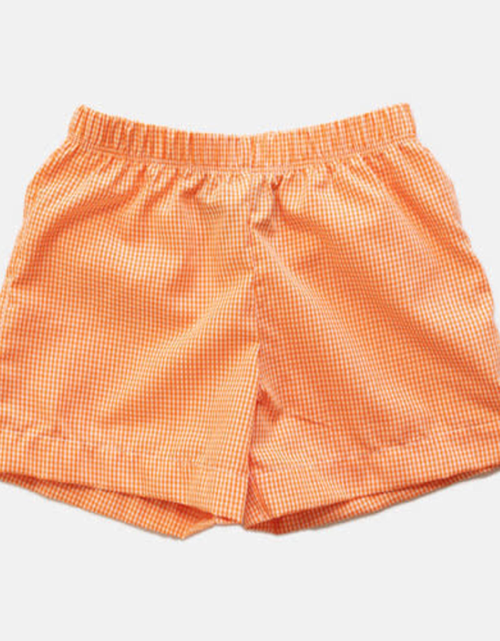 Bon Temps Orange Gingham Shorts