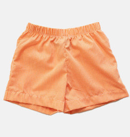 Bon Temps Orange Gingham Shorts