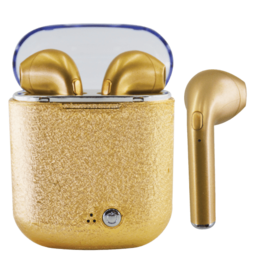 Iscream Gold Glitter Earbuds