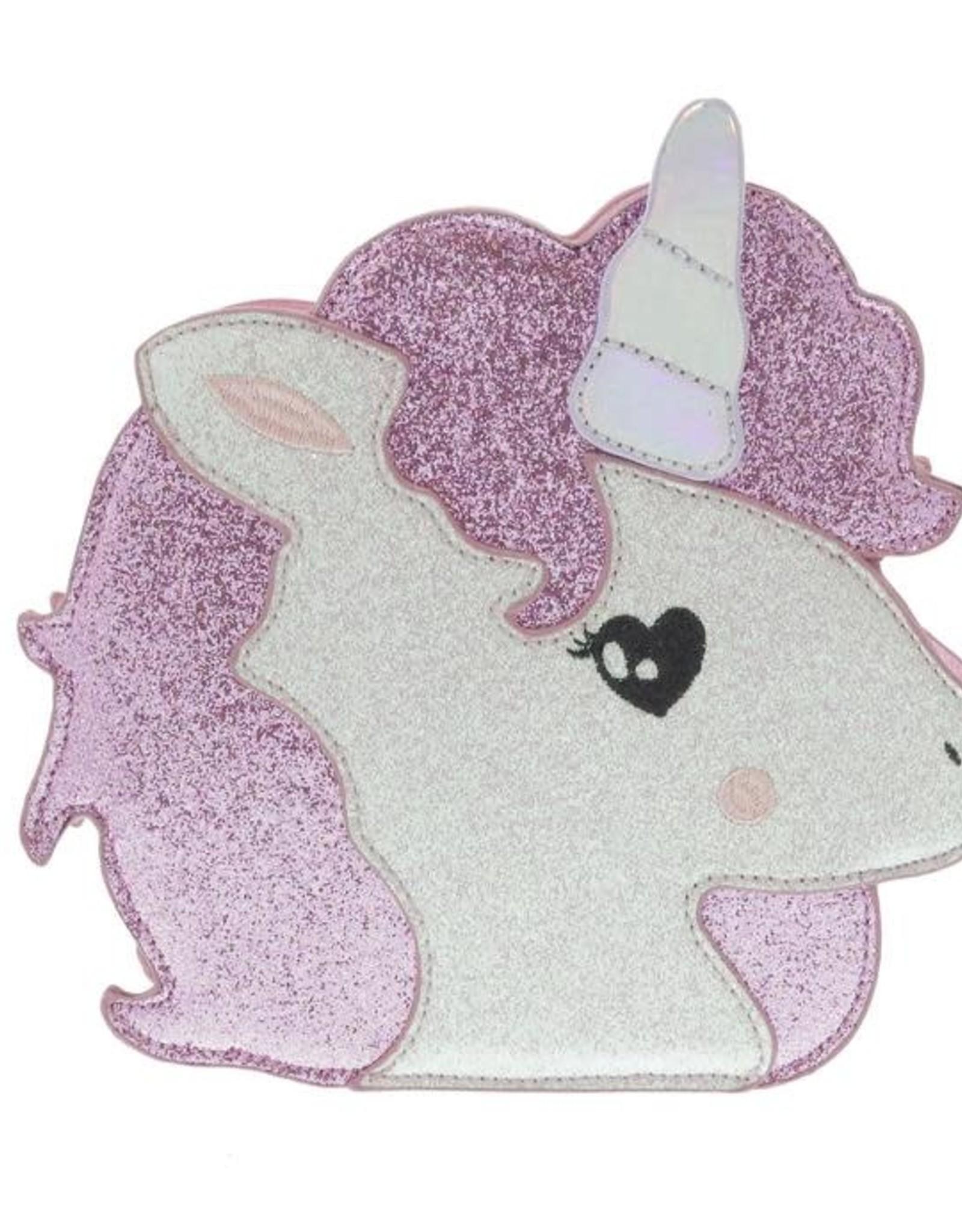 Doe a Dear Unicorn Face Glitter CB Purse
