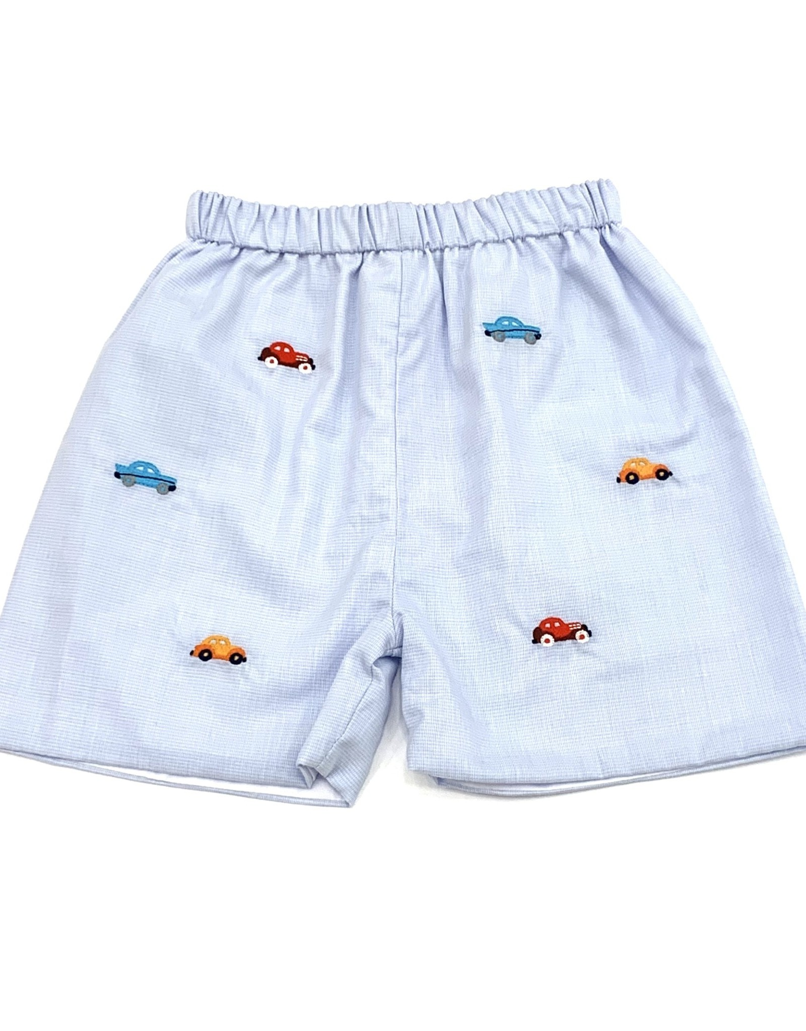 Zuccini Boys Classic Check Short With Car Embroidery