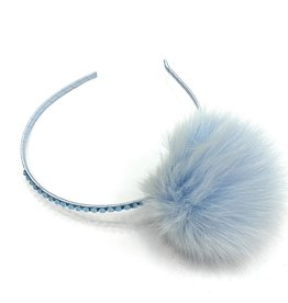 Bari Lynn Assorted Fur Pom Headbands With Stones