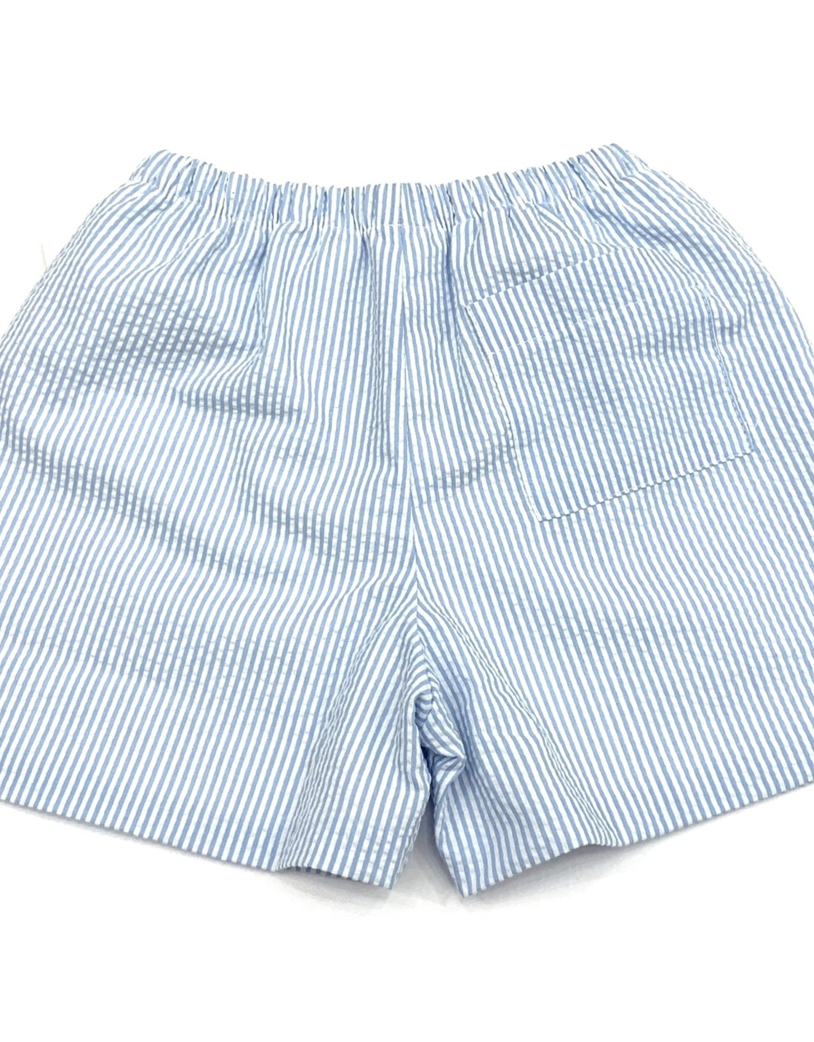 James and Lottie Conrad Blue Seersucker Shorts