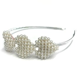 Bari Lynn 3 Beaded Heart Headband
