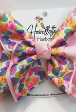 Howelette Hairbows Valentines Printed Bow
