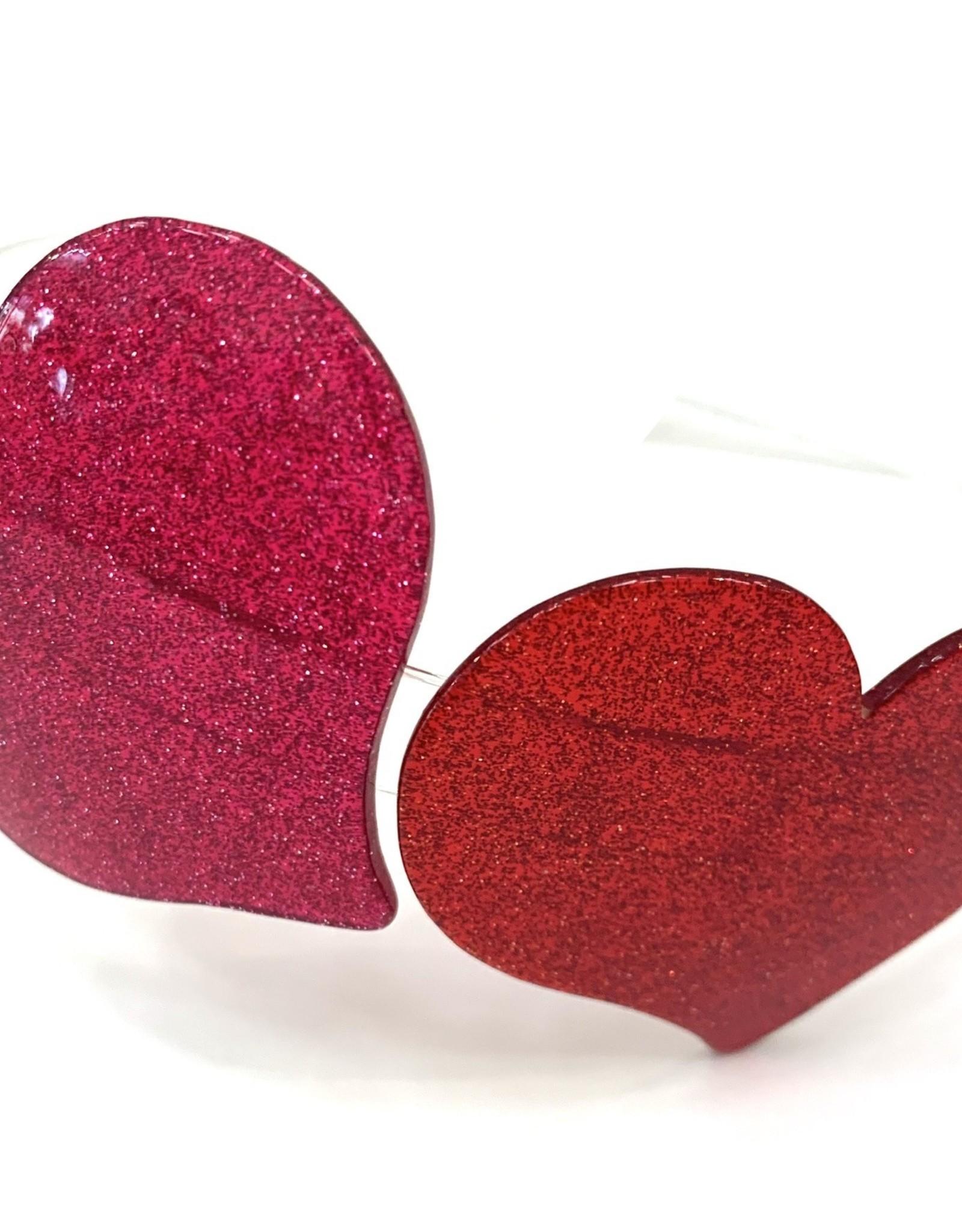 Lillies&Roses Headband Chelia Glitter Red Pink
