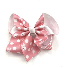 Howelette Hairbows Pink Bunny Egg Easter Bows