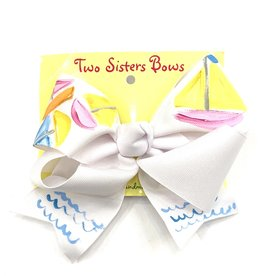 James and Lottie Hand Painted Sailboat Bow