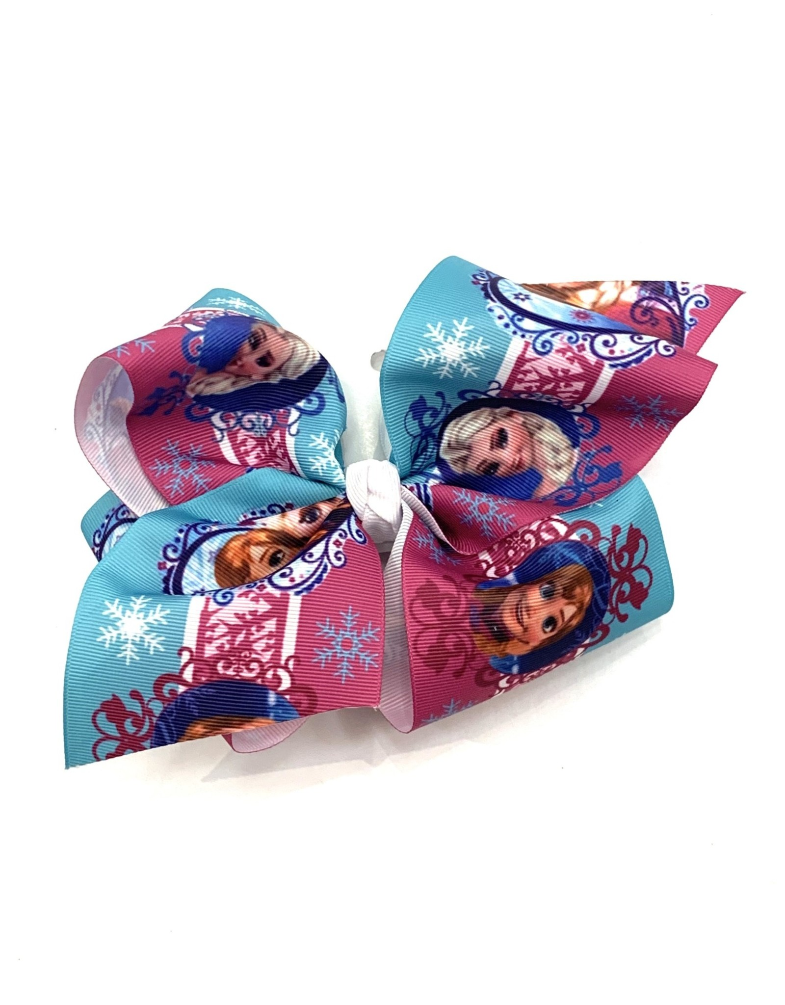 High Cotton Bows Frozen Teal/Fuchsia Large Bow