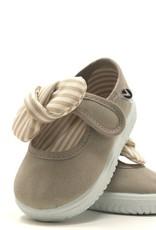 Victoria White/Beige Tie Shoe Style 105110