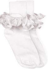 Jefferies Socks White Ruffle Sock 2143