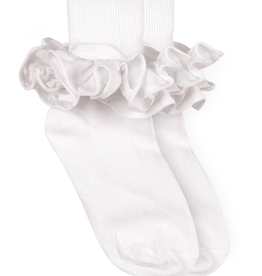 Jefferies Socks White Ruffle Sock 2143