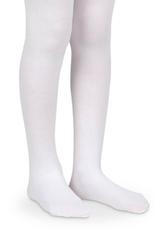 Jefferies Socks White Organic Cotton Tights 1500