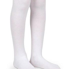 Jefferies Socks White Organic Cotton Tights 1500