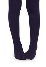 Jefferies Socks Navy Organic Cotton Tights 1500