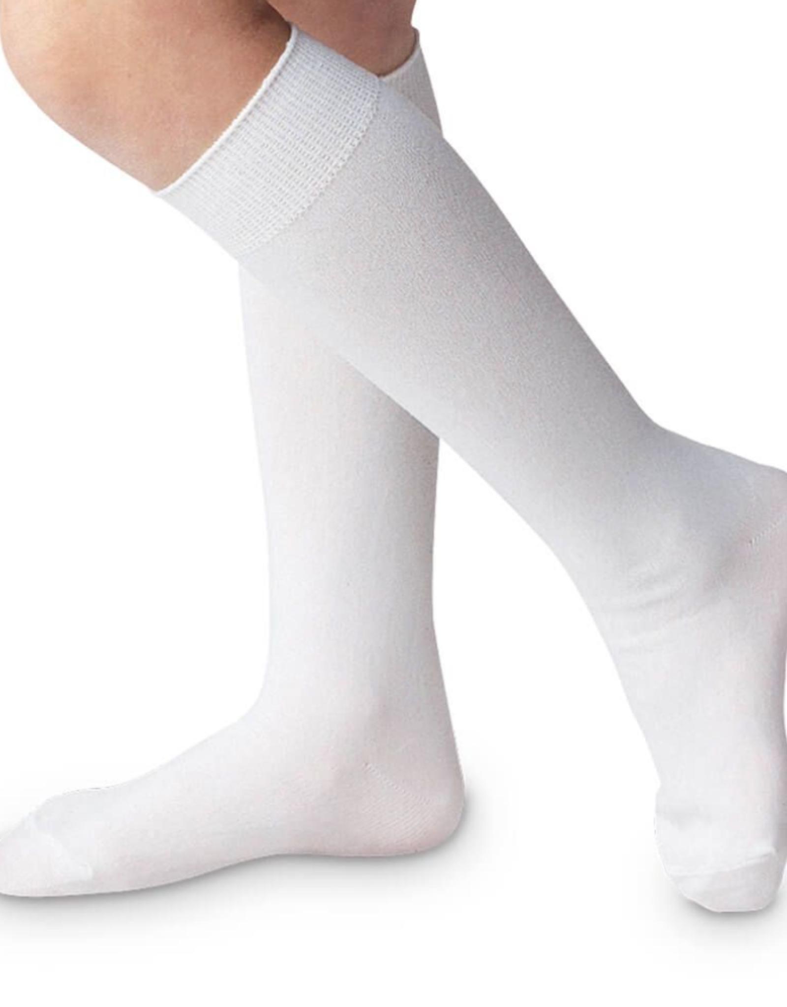 Jefferies Socks White Nylon Knee High 1603