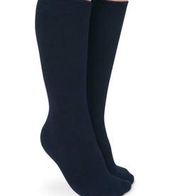Jefferies Socks Navy Cotton Knee High 2 Pack 1600