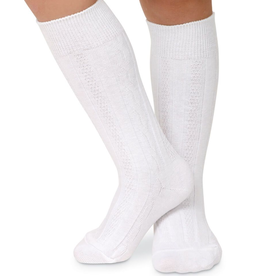 Jefferies Socks White Cotton Knee High 2 Pack 1600