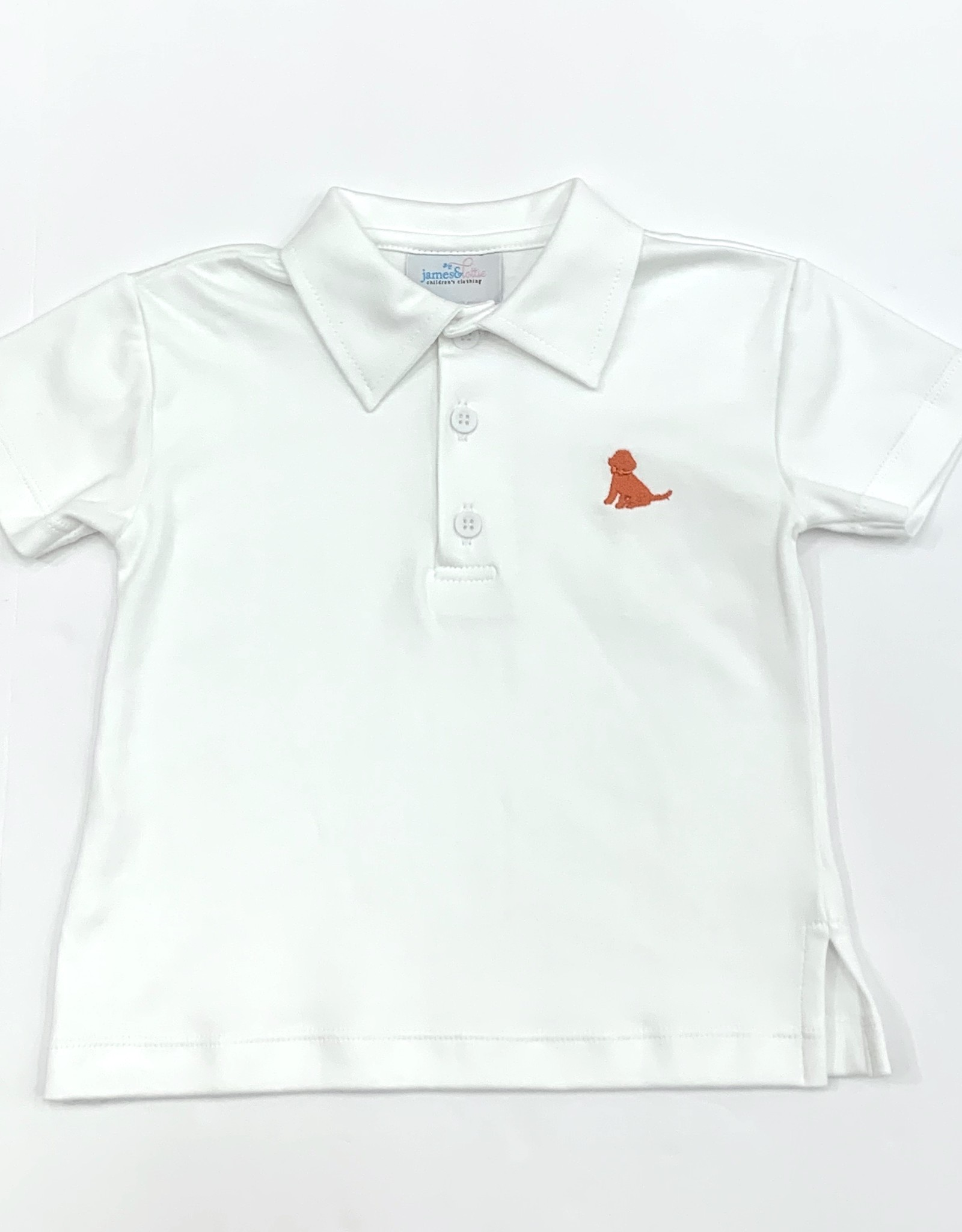 James and Lottie White Polo Coral Puppy